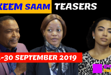 Photo of coming up on Skeem Saam this September 2019