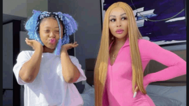 Photo of Khanyi Mbau Accused Of Bleaching Her Daughter's Skin