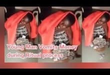 Photo of Shocking Video Shows Young Man Vomiting Money During Ritual Process